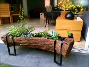 madera rustica diseñar patio exterior jardin