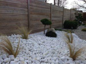 piedras diseñar patio exterior jardin