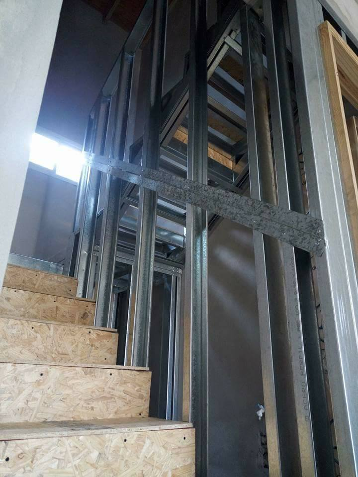 Proceso de Construcción de Escalera en Light Steel Framing