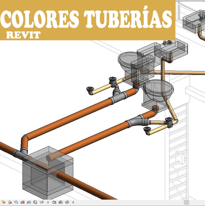 Colores tuberías por filtro en revit - Arquitectura BIM
