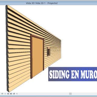 siding muro revit configurar telar