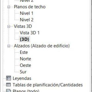 navegador de proyectos de revit