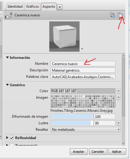Mapeado de textura en materiales de revit