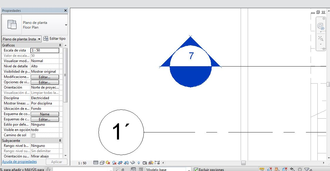 Por qué se ve en azul mi símbolo de sección en Revit