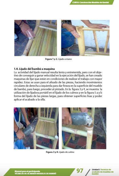 Aprende elaboración de muebles de bambú