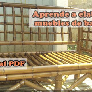 Aprende elaborar muebles de bambu
