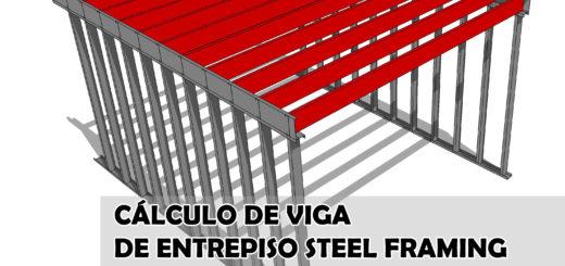 Cálculo de viga entrepiso steel framing