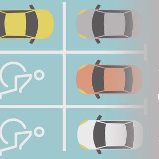 diseño con medidas de estacionamientos